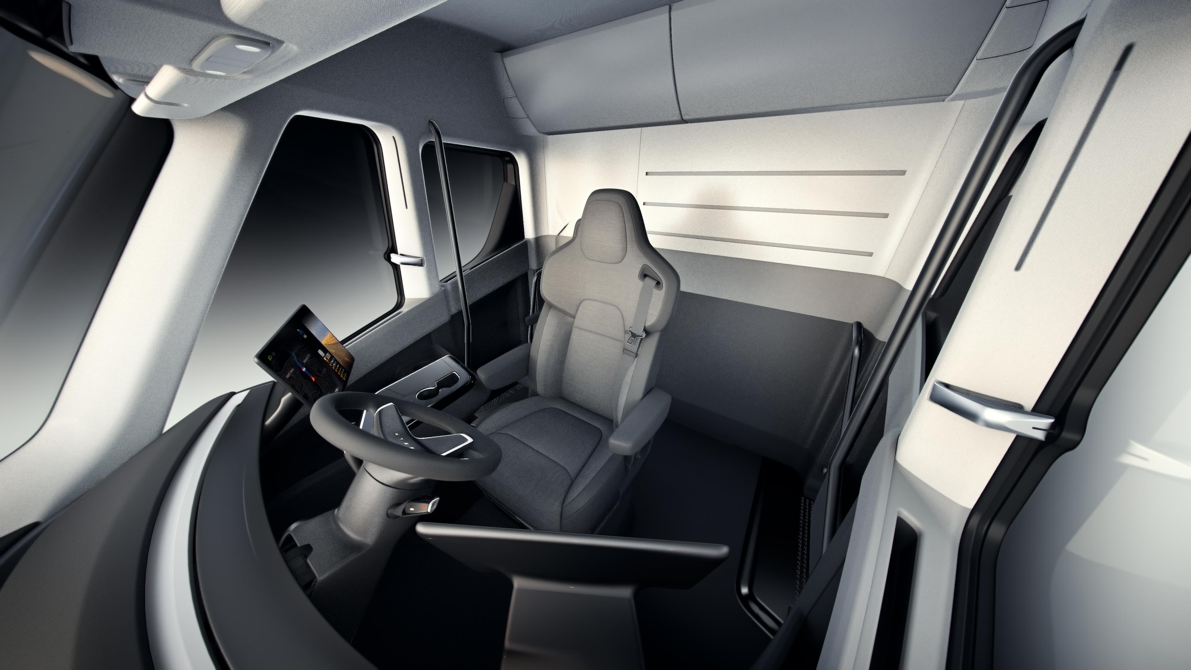 Tesla vrachtwagen interieur