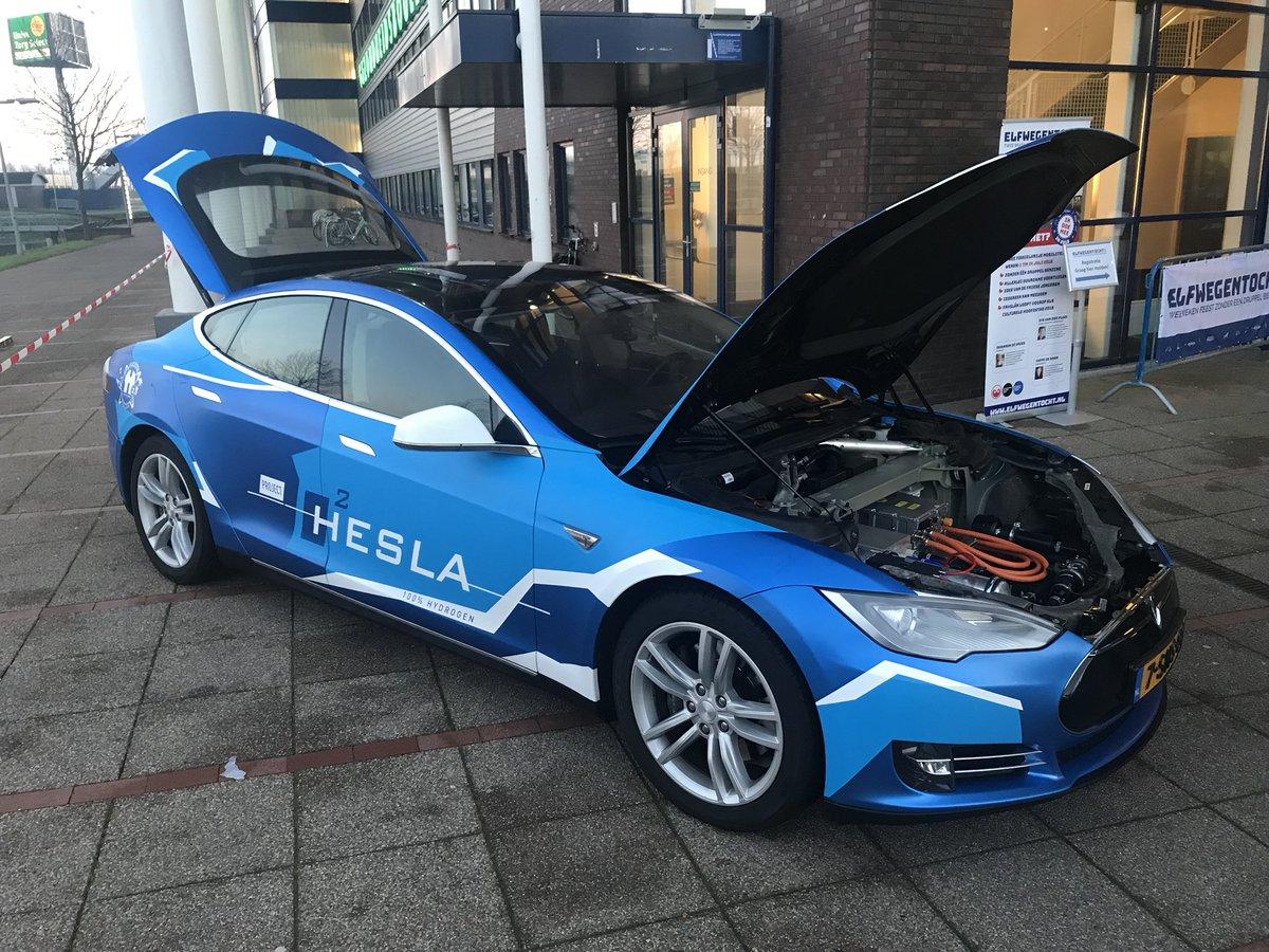 Hesla - Tesla met Fuel cell technologie