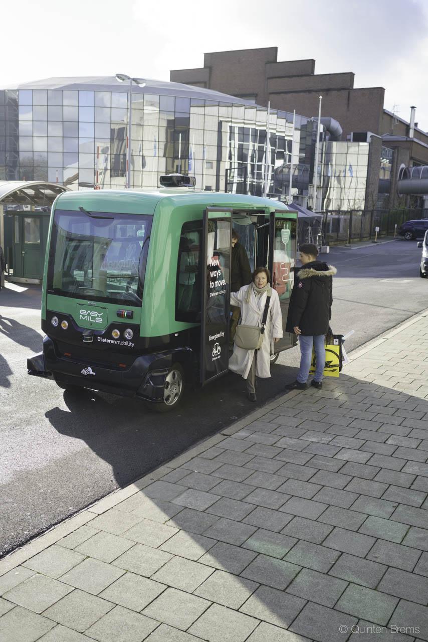 autonoom busje op autosalon Brussel 2018