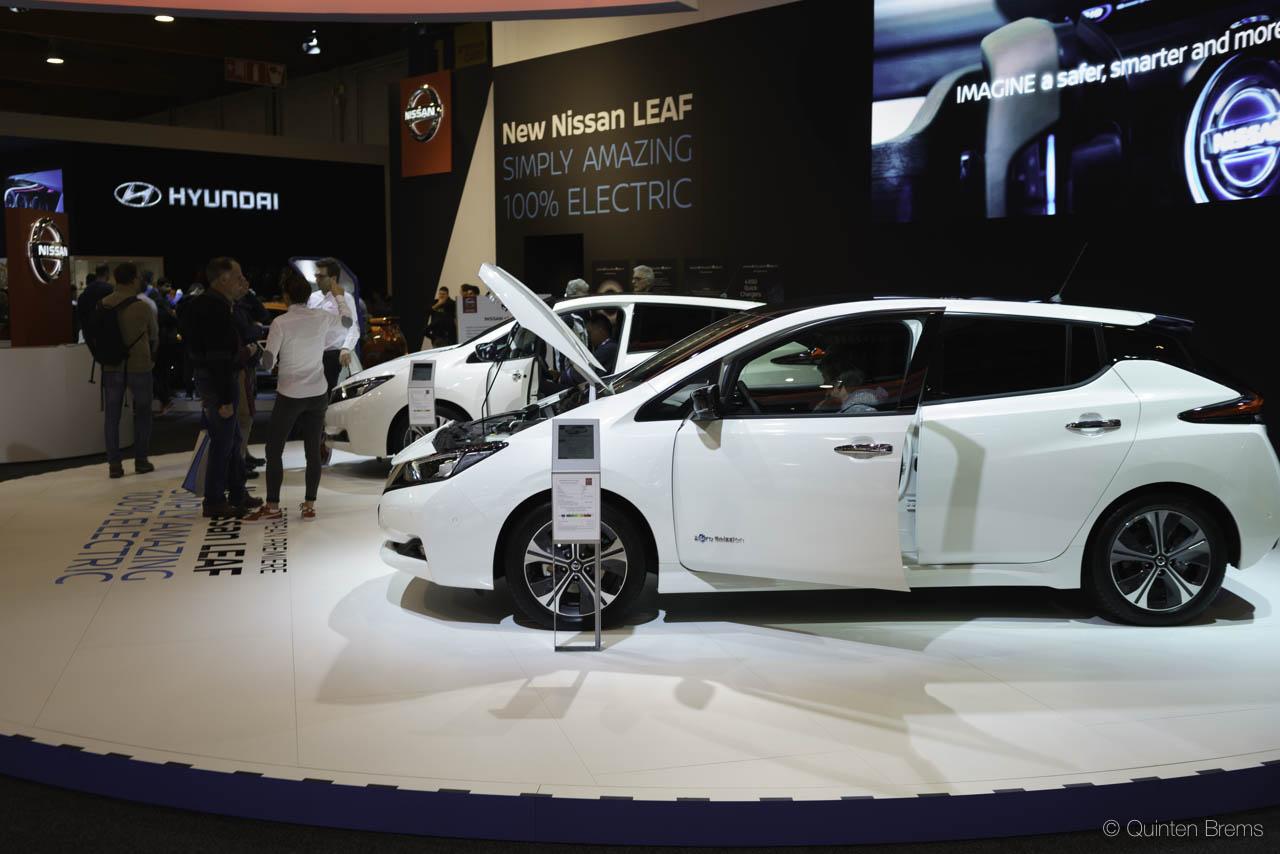 Nissan Leaf 2 op autosalon Brussel 2018
