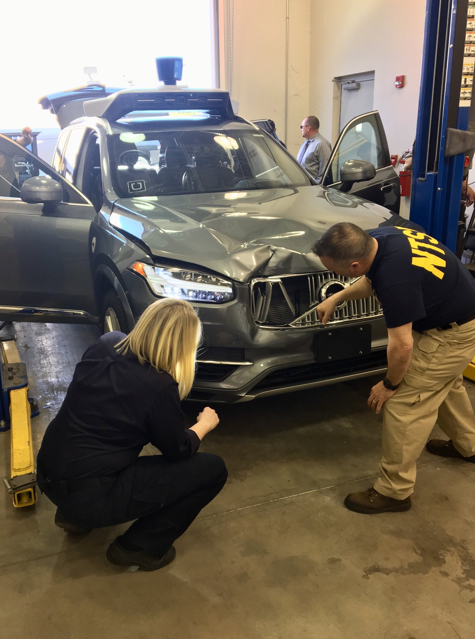 source NTSB Uber self driving Volvo involved in fatal accident with pedestrian